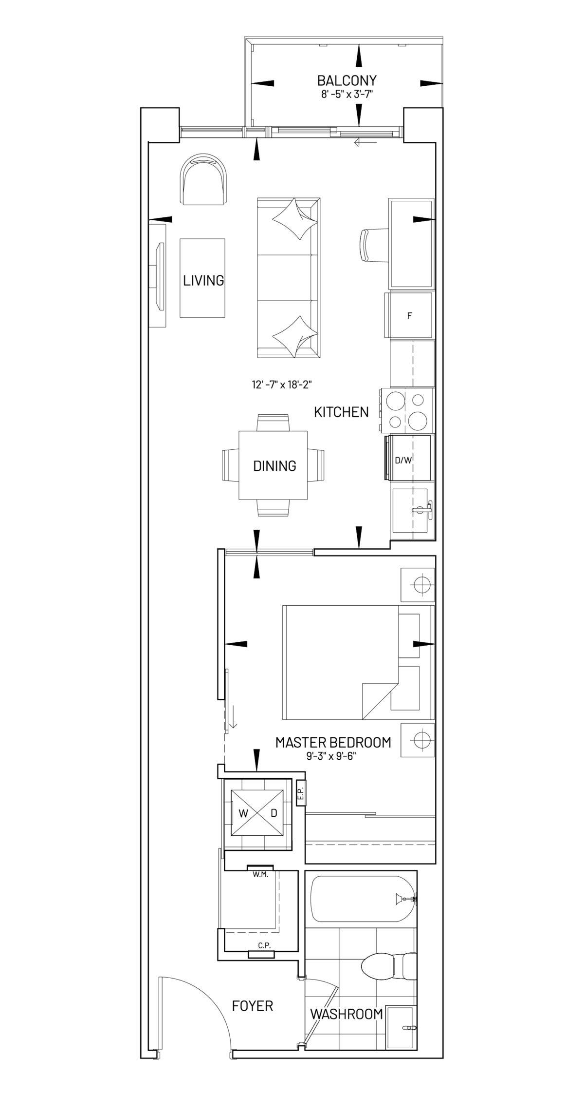Suite 1-O Floor Plan