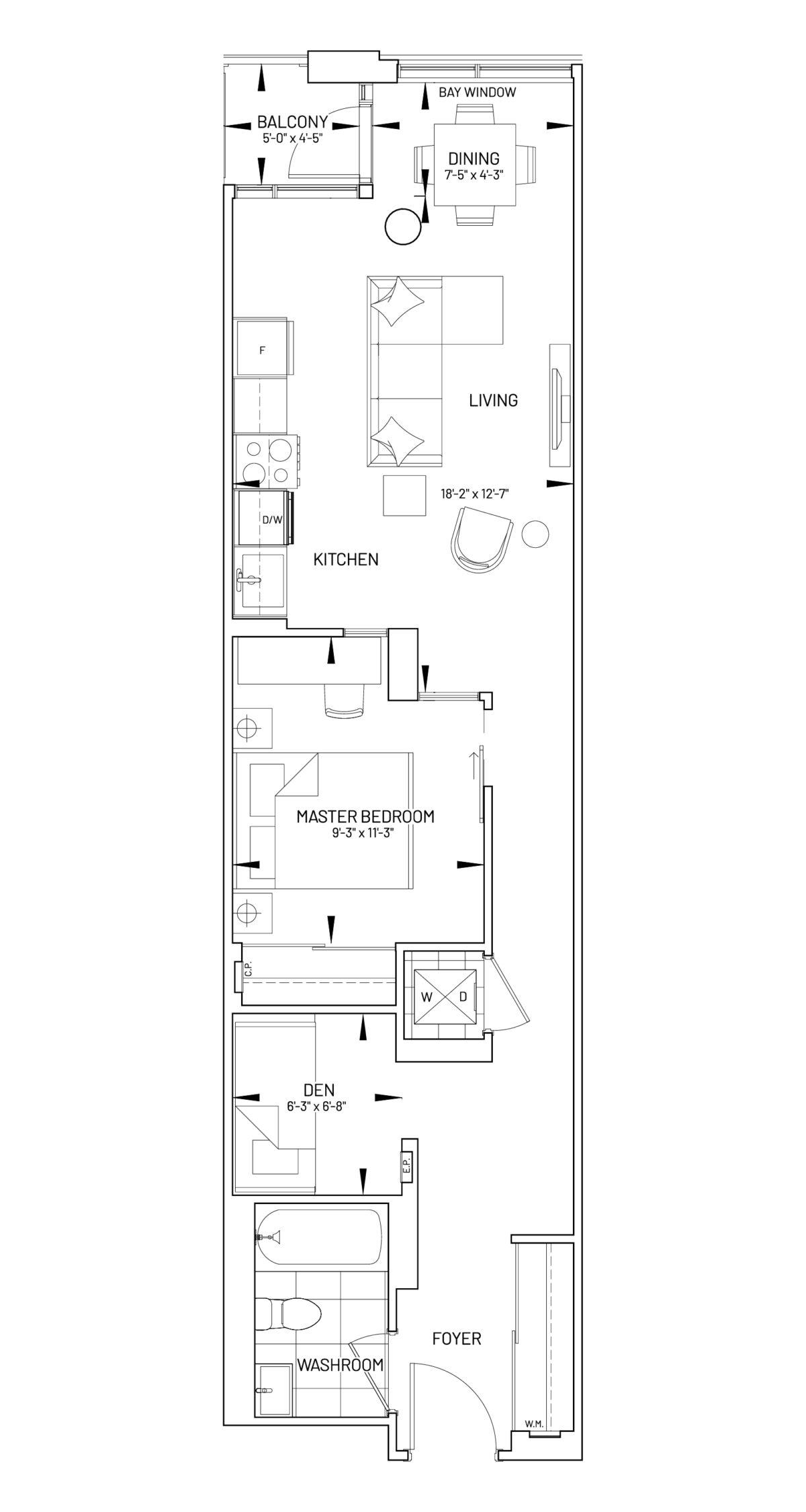 Suite 1D-Z Floor Plan