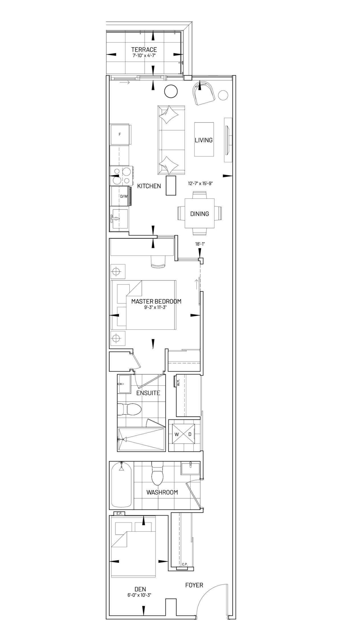 Suite 1D-AP Floor Plan