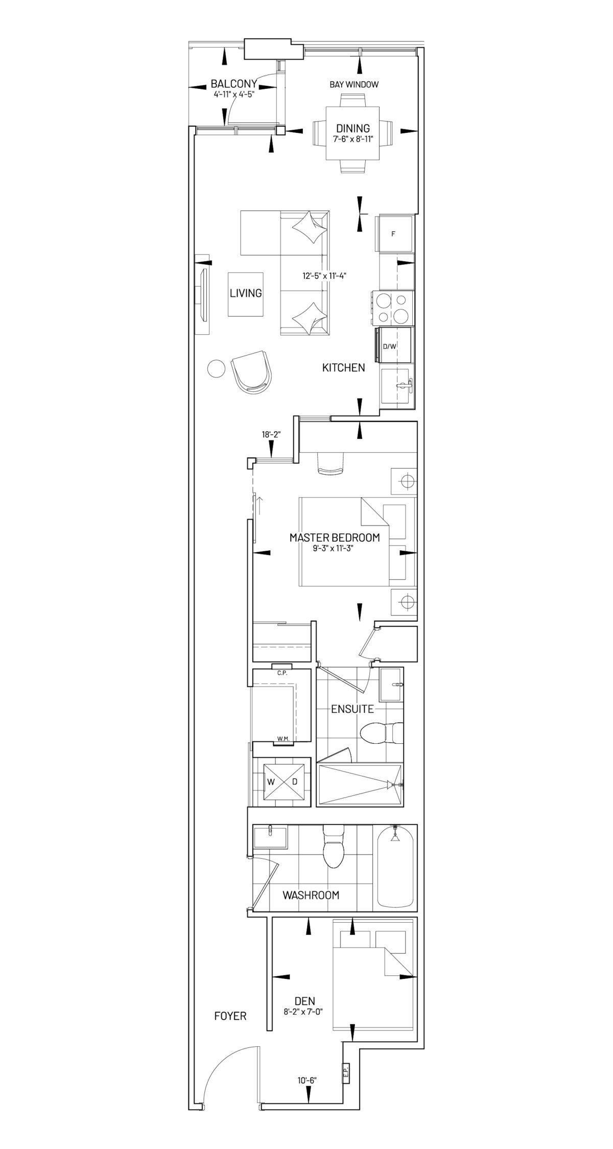 Suite 1D-L Floor Plan