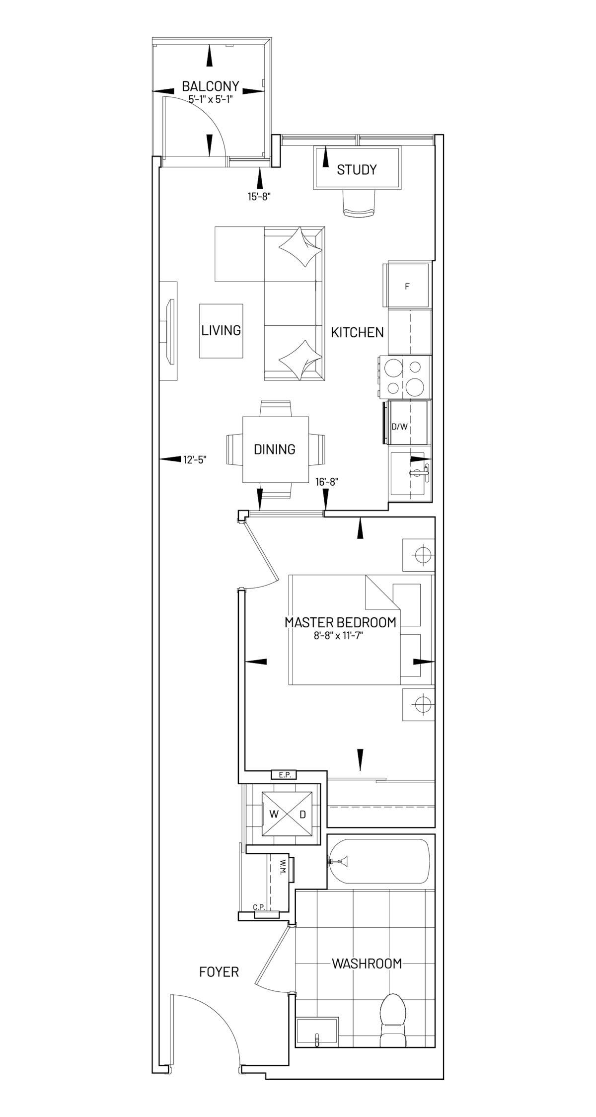 Suite 1S-T Floor Plan