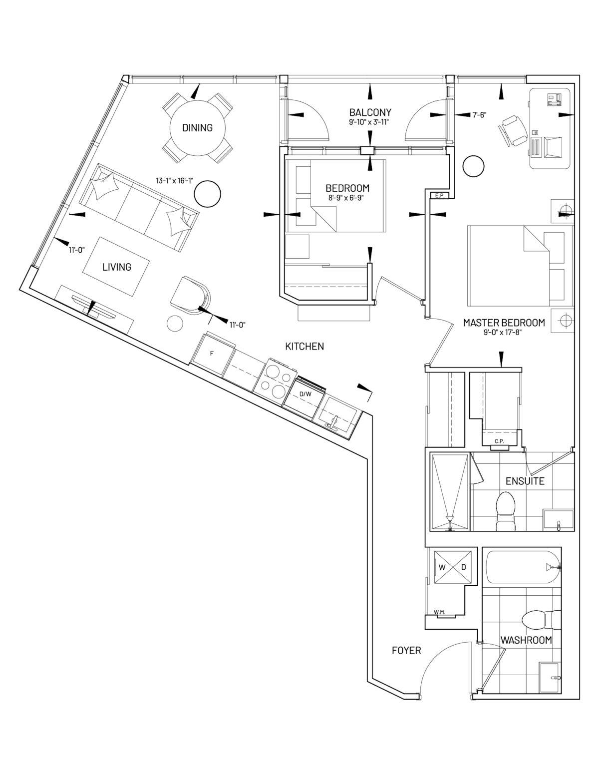 Suite 2-AF Floor Plan