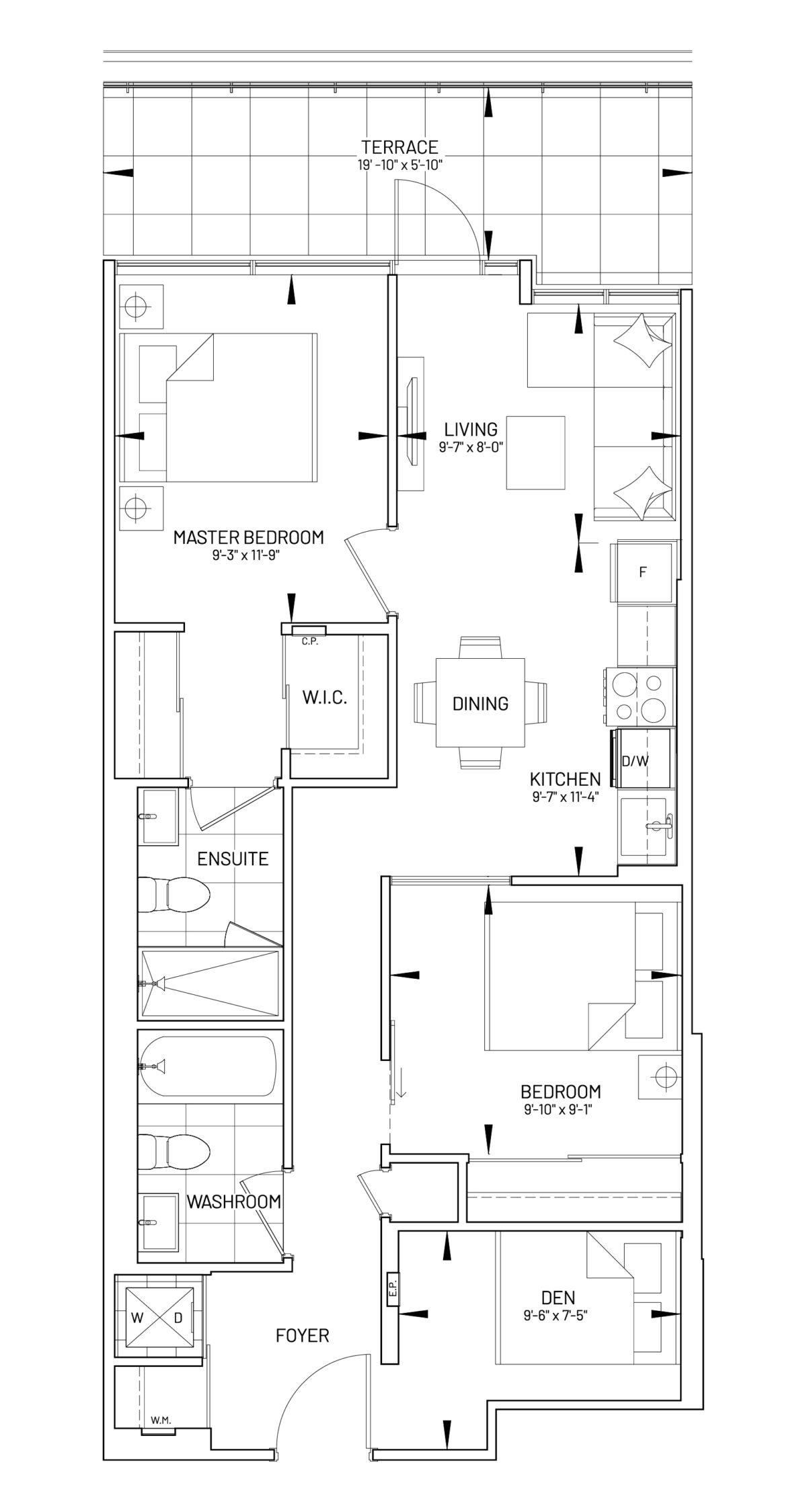 Suite 2D-F Floor Plan