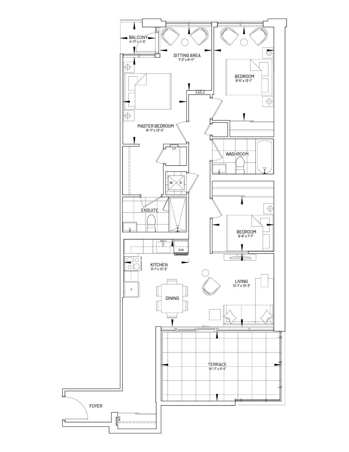 Suite 3-N Floor Plan