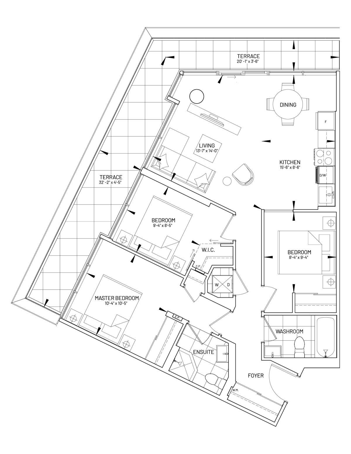 Suite 3-C Floor Plan